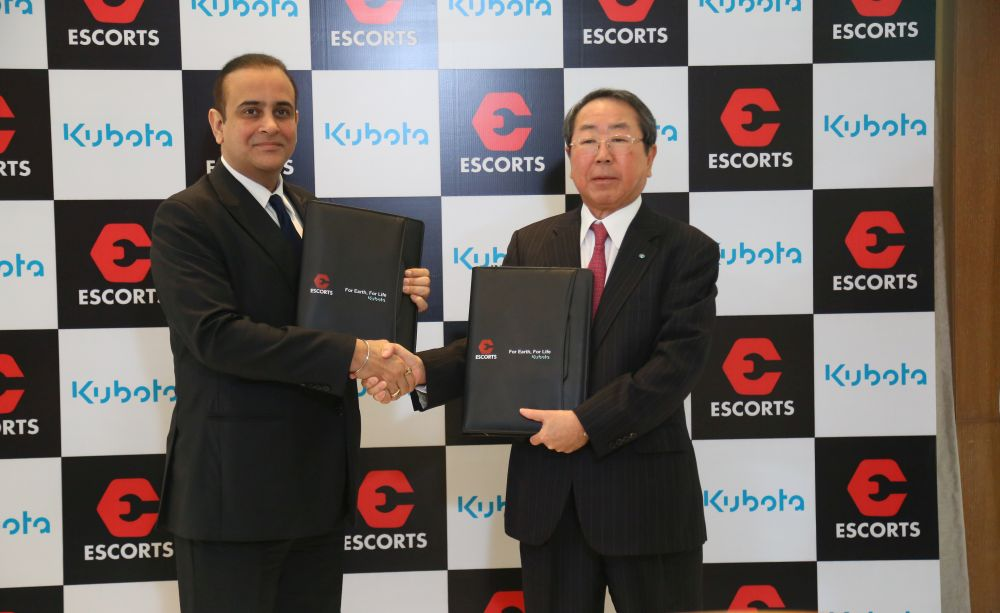 Kubota, Escorts join hands to manufacture high-tech tractors