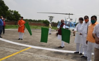 Agriculture minister flags off helicopter services for locust control operations