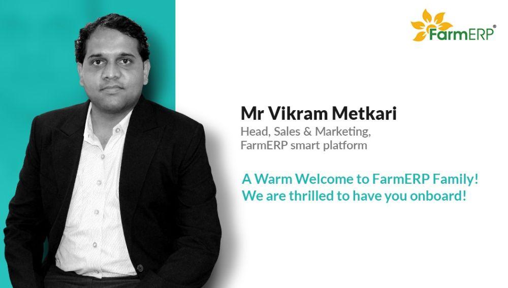 Top executives from Cognizant and SAP join FarmERP, Vikarm Metkari