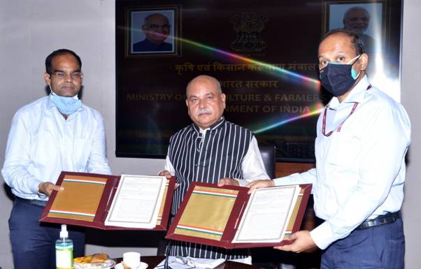 Centre signs MoUs with Patanjali, Amazon, ESRI, Agribazar to digitise agriculture
