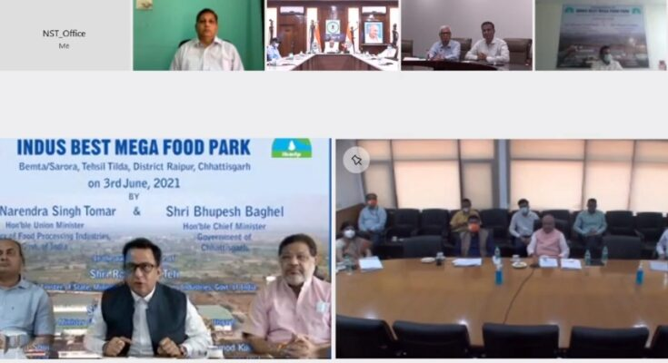 Narendra Singh Tomar inaugurates Indus Best Mega Food Park at Raipur