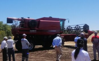 Farmers take test drive of Case IH Axial-Flow in Morocco